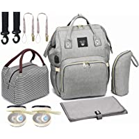 Diaper Bag Set, 8-in-1 Baby Care Backpack for Mom Dad, Waterproof Nappy Bags