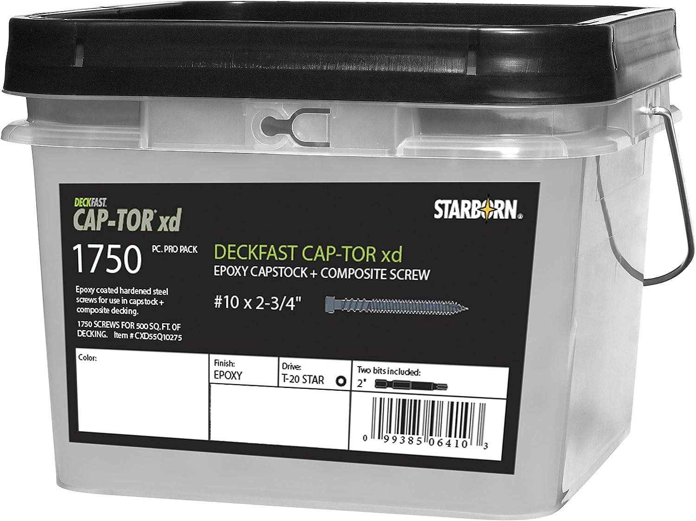 """1 5//8/""""x#8 Camo Premium Deck Screws 1,750 count pail Protech coated."""