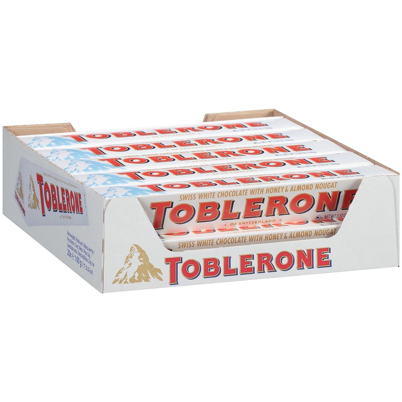 Amazon.com : Toblerone Swiss White Chocolate with Honey and Almond ...