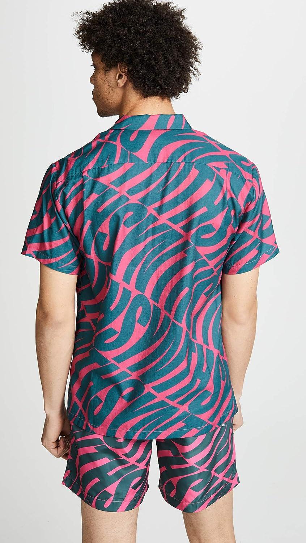Double Rainbouu Mens Hawaiian Synth Uuave Shirt