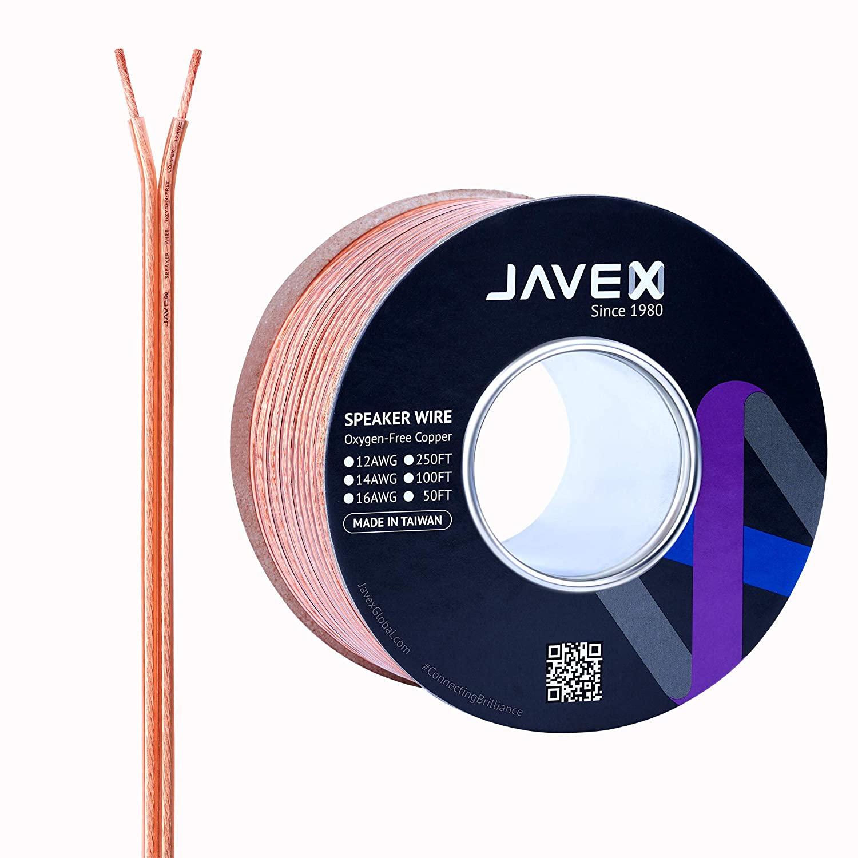 JAVEXスピーカーワイヤー12ゲージAWG [OFC無酸素銅99.9%] 銅撚り線、フラットケーブル、30CM/100FT  30CM 12ゲージOFC B07NS61H84