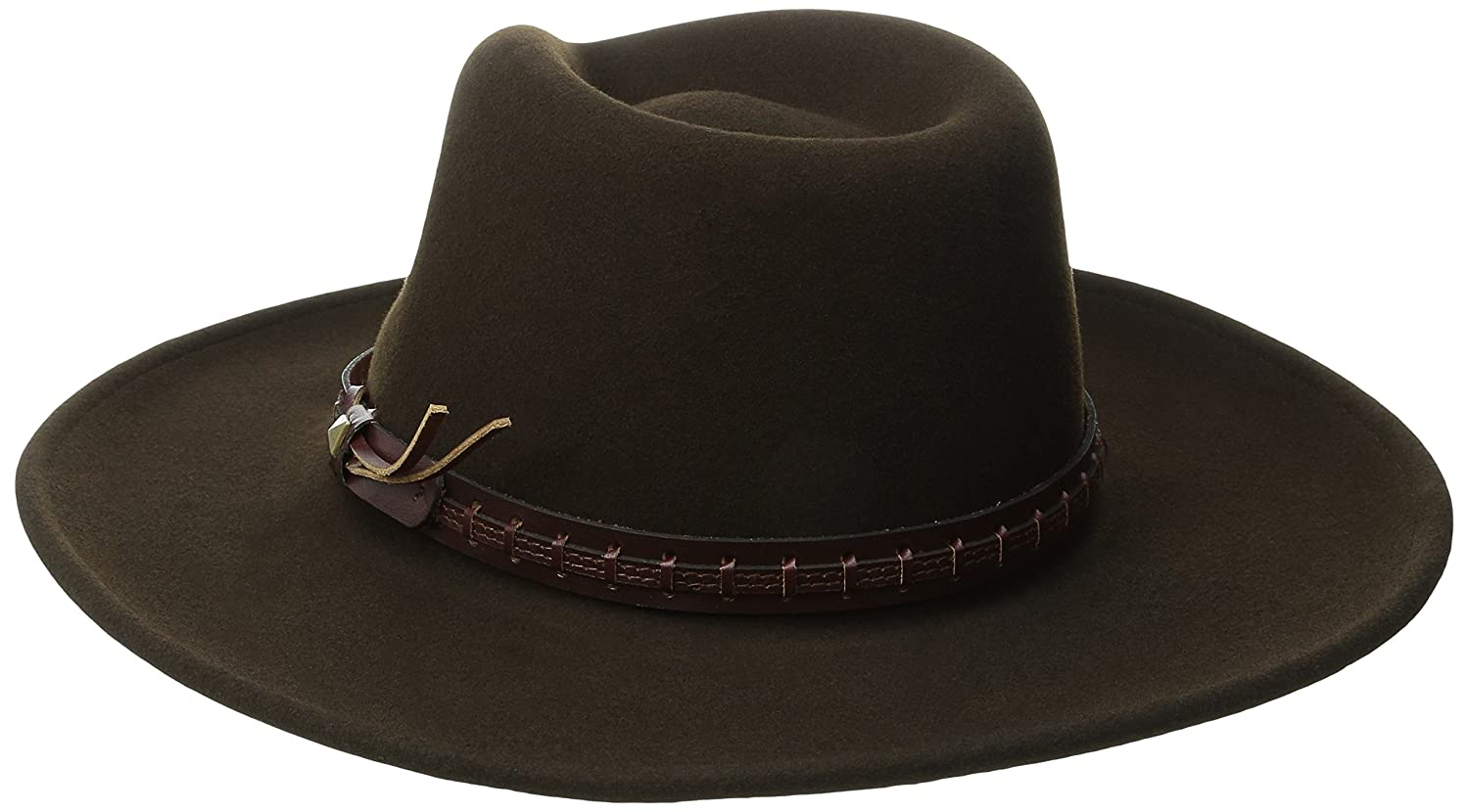Bailey of Hollywood Mens Litefelt Wool Western Firehole Hat