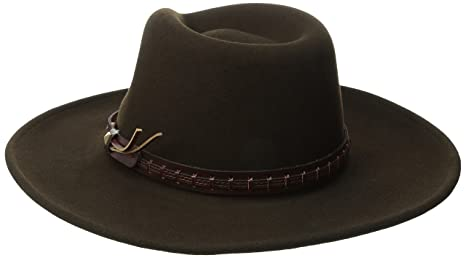 8b1df523cbffd4 Bailey of Hollywood Men's Litefelt Wool Western Firehole Hat at Amazon  Men's Clothing store: