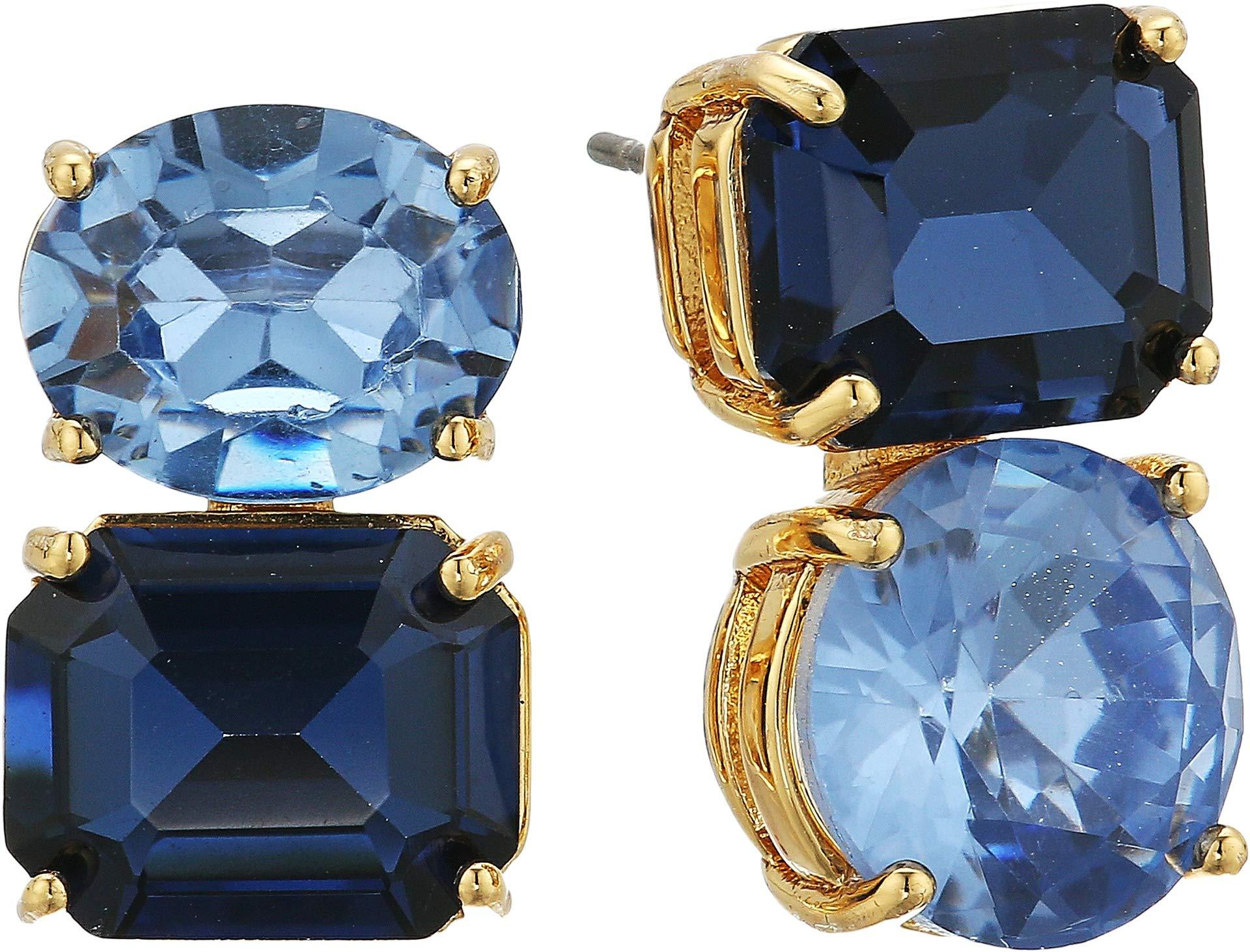 Kate Spade New York Women's Bright Ideas Double Drop Asymmetrical Studs Blue Multi One Size