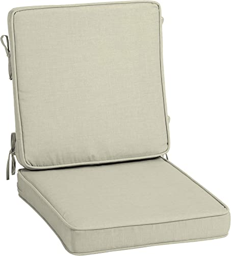 Arden Selections ProFoam Essentials 20 x 20 x 3.5 Inch Outdoor High Back Chair Cushion
