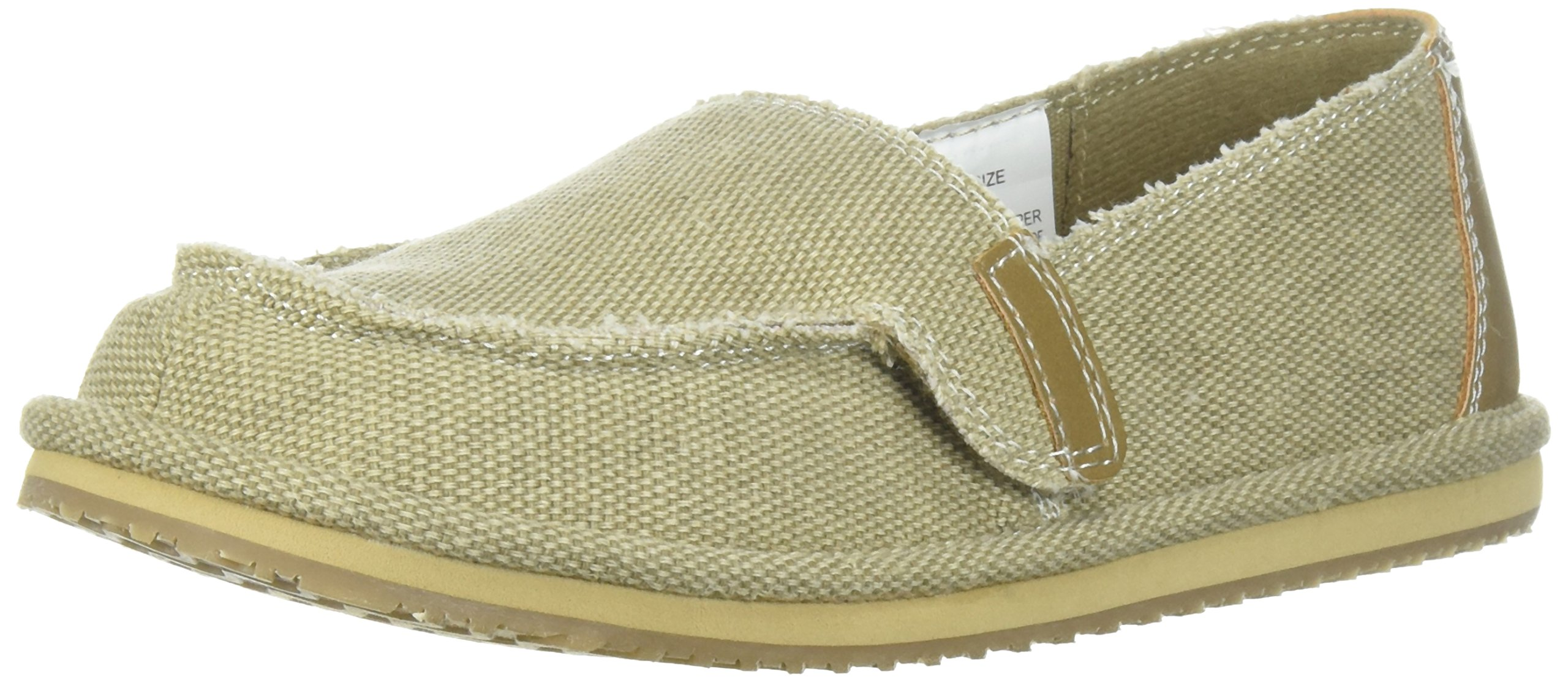 The Children's Place Boys' BB Slipon Deck Slipper, Tan, Youth 12 Medium US Big Kid