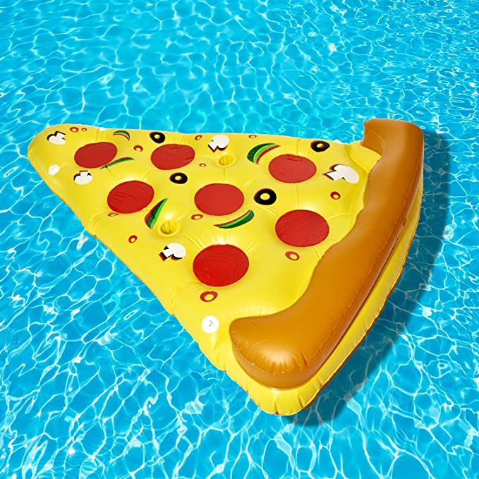 Pizza Luftmatratze Aufblasbare Pizzastück Matratze XXL Badeinsel