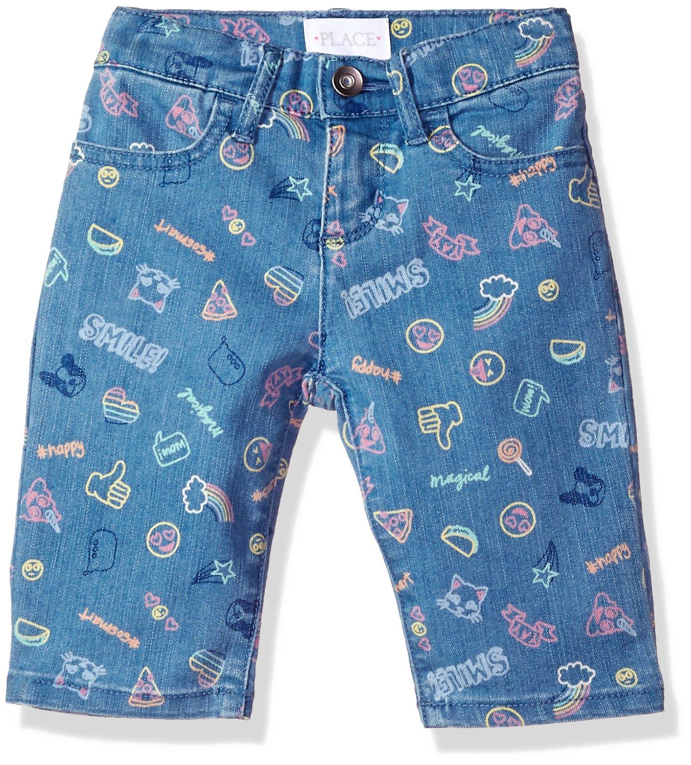 The Children's Place Girls' Big Basic Denim Skimmer Shorts, Lt Med Wash 6596, 8 by The Children's Place (Image #1)