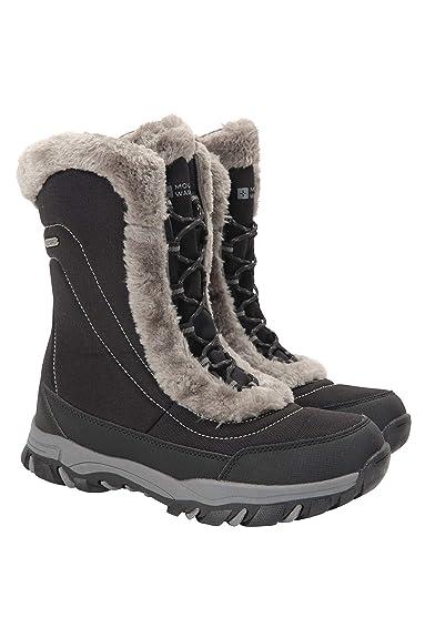 Mountain Warehouse Botas de Nieve para Mujer de Ohio: Zapatos de Invierno a Prueba de Agua, Parte Superior de Tela, Forro y Suela de Goma Isotherm