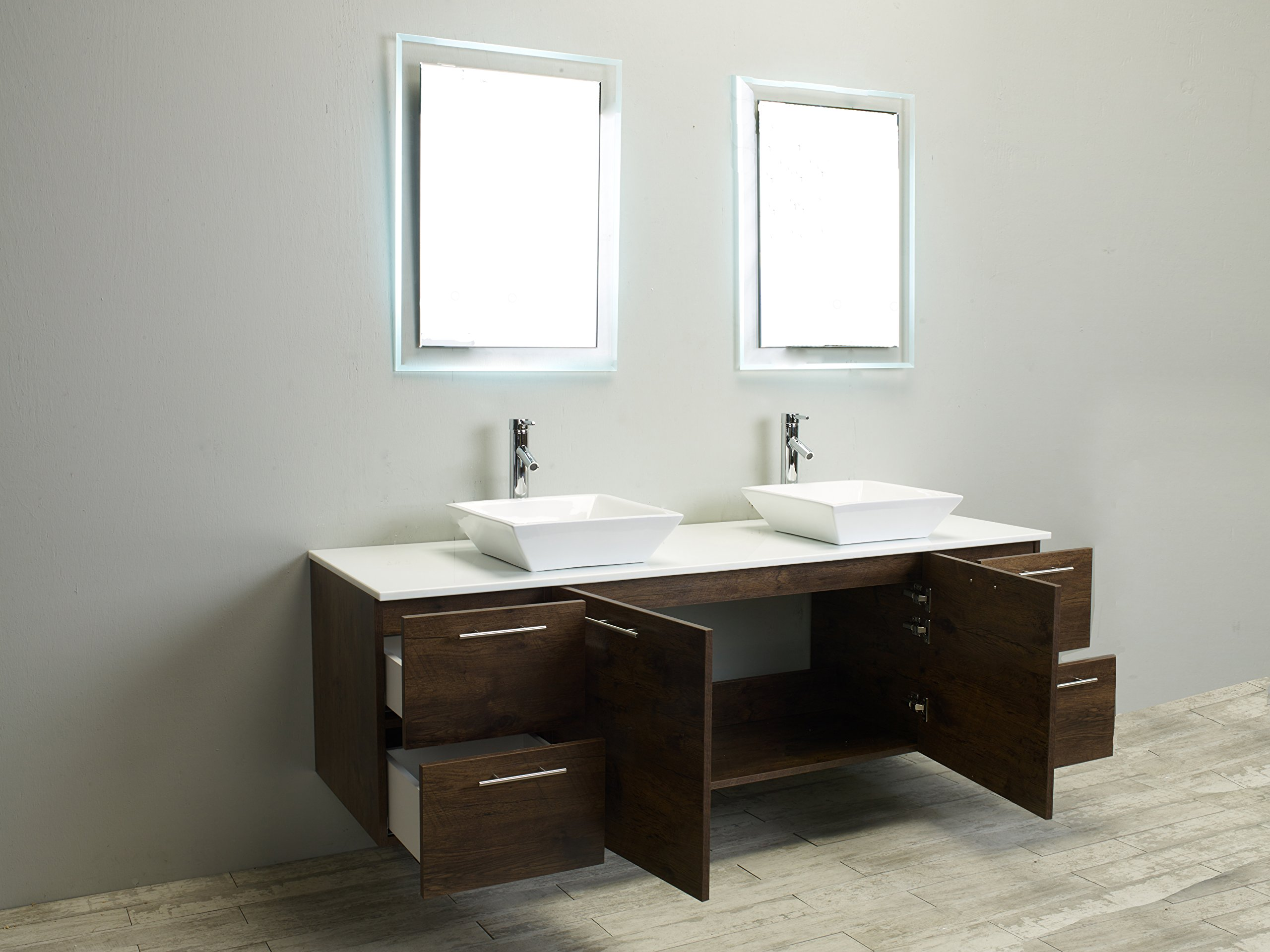 Eviva Luxury 72-inch Rosewood bathroom cabinet only by Eviva (Image #5)