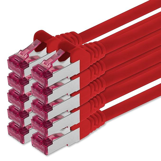 11 opinioni per 1aTTack.de 0,25m- rosso- 10 pezzi- Rete Cavi Cat6a S-FTP CAT 6a doppia