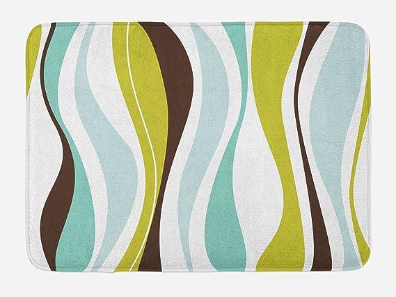 """Details about  /Colorful Shapes Bath Mat Bathroom Home Decor Plush Non-Slip Mat 29.5/"""" X 17.5/"""""""