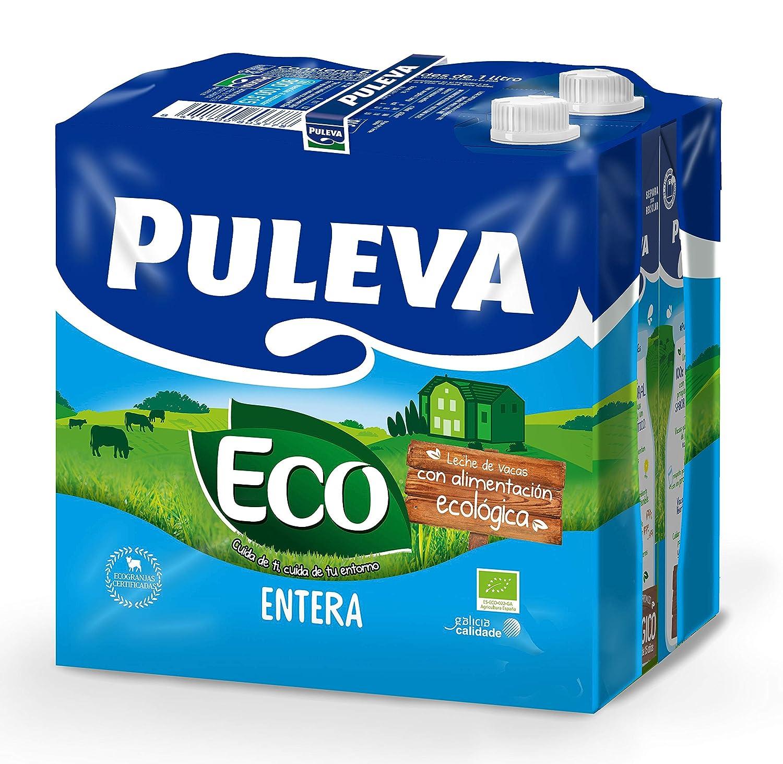 Puleva Leche Ecológica Entera Bio - Pack 6 x 1 L - Total: 6 L ...