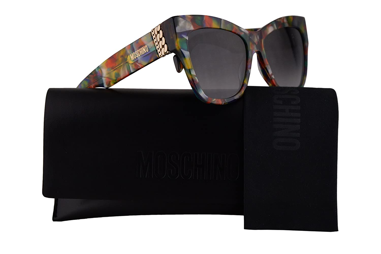 f860efe00e570 Amazon.com  Moschino MOS011 S Sunglasses Purple Blue w Dark Grey Gradient  Lens 54mm F749O MOS 011S MOS 011 S MOS011S  Clothing