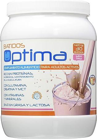 Just Aid Optima Batido Proteinas Fresa 420 gr 420 g: Amazon ...