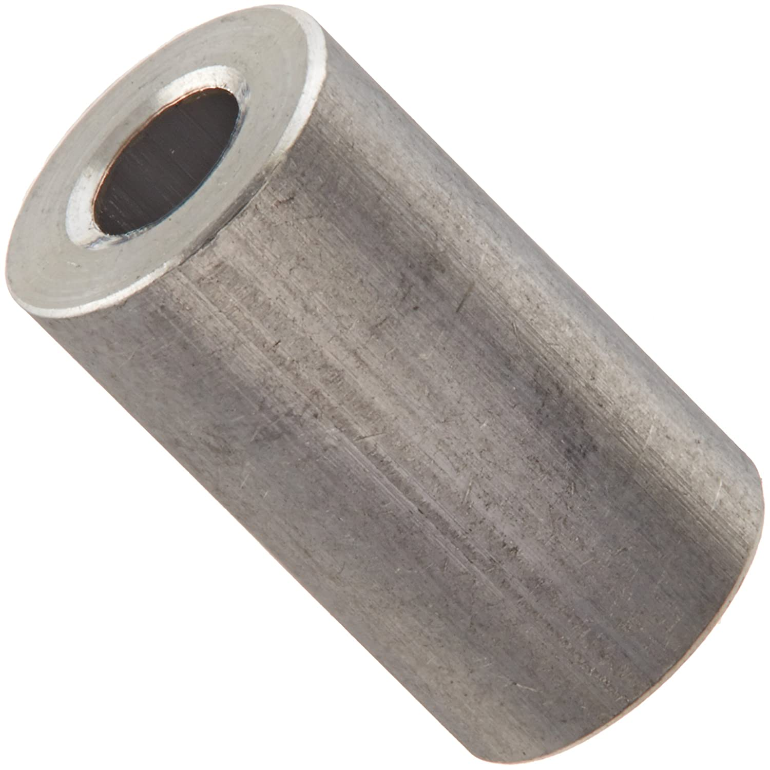 Pack of 25 Aluminum 0.115 ID Plain Finish 1//4 OD #4 Screw Size 7//16 Length Round Spacer