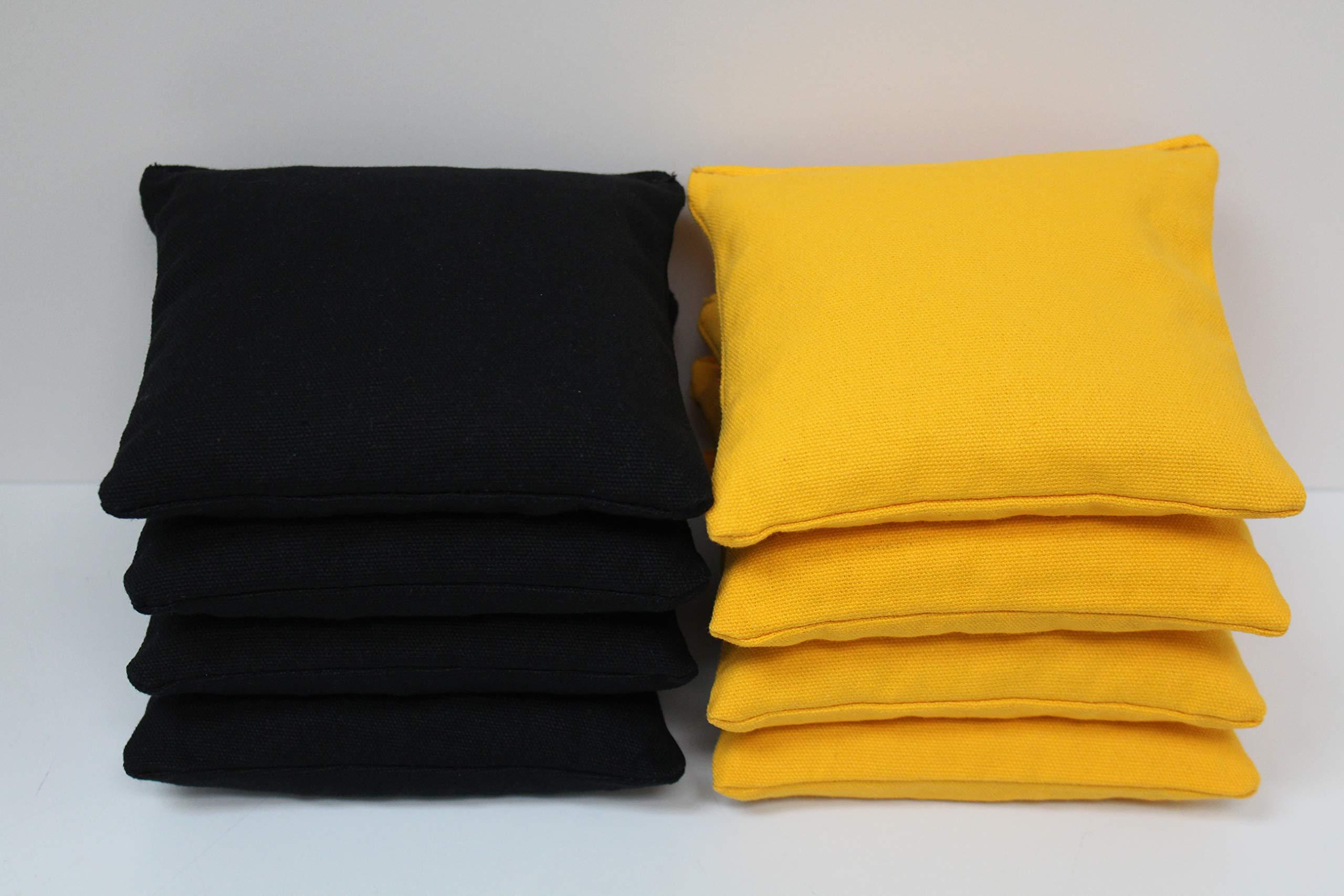 Cornhole Bags Set - (4 Black, 4 Yellow) By Free Donkey Sports by Free Donkey Sports