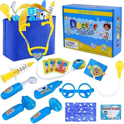 Buyger médecins Kit pour enfants Medical Play Set Kids Dress up costumes Rose