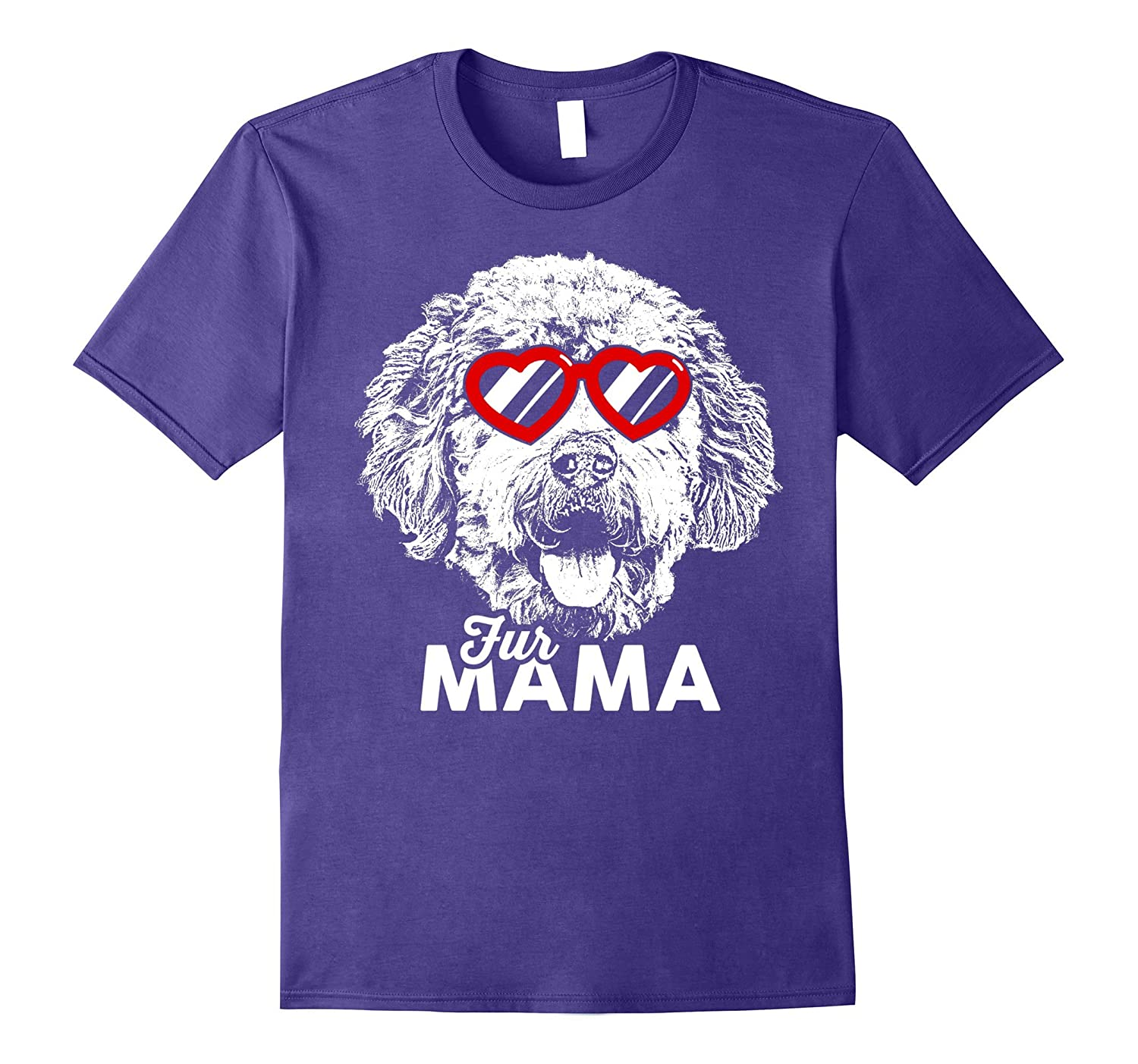 Cute Goldendoodle Fur Mama T-Shirt-ANZ
