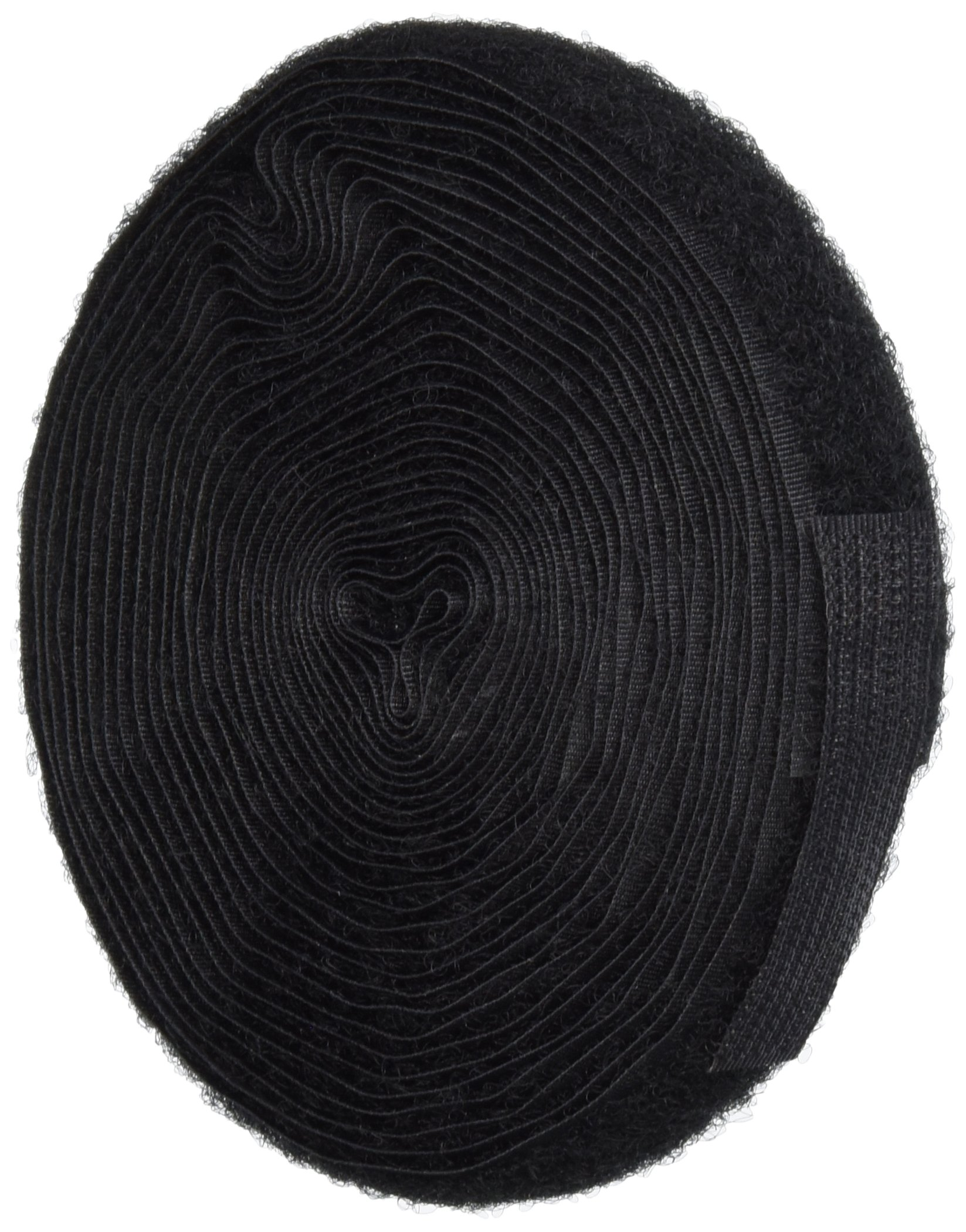 VELCRO 1002-AP-PB/L Black Nylon Woven Fastening Tape, Standard Back, Sew-On Loop Only, 5/8'' Wide, 15' Length by Velcro