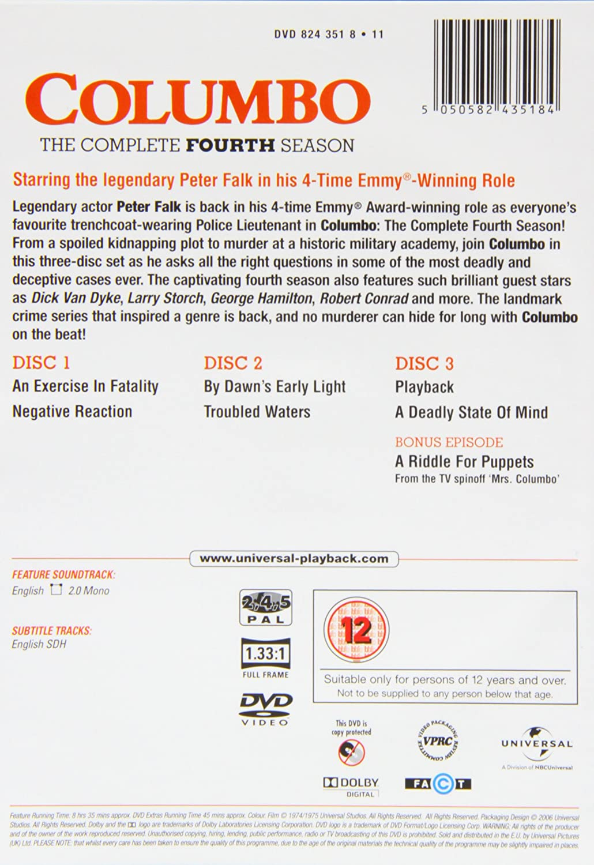 Columbo - Season 4 [3 DVDs] [UK Import]: Amazon.de: Columbo: DVD ...