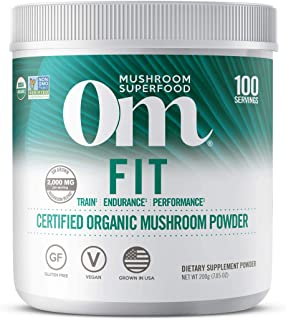product image for Om Organic Mushroom Superfood Powder, Fit: Energy, 7.05 Ounce (Pack of 1), Cordyceps & Reishi, Peak Performance Support Supplement