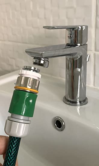 The easiest way to attach a Hosepipe / garden hose to your mixer tap ...