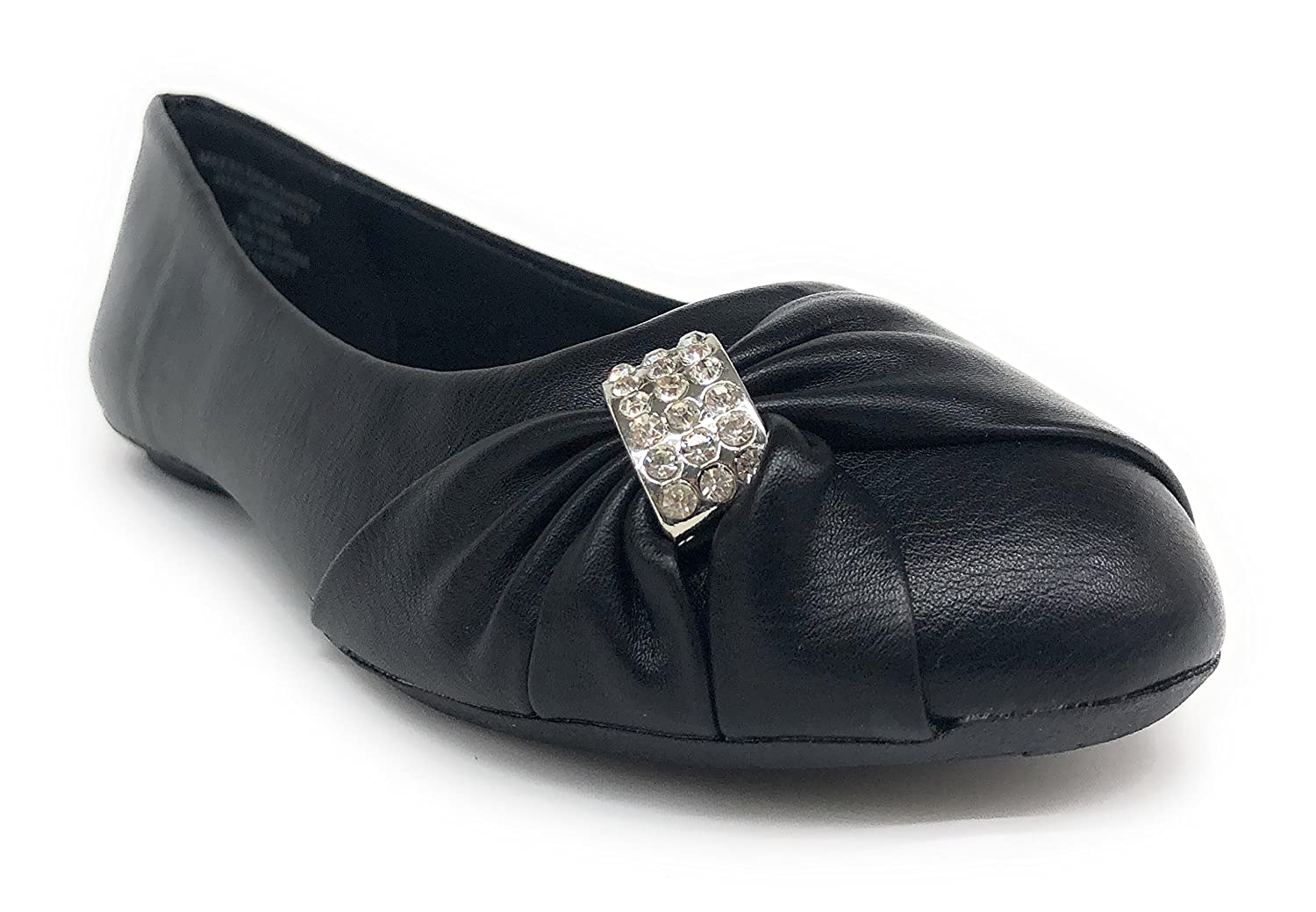 Imei Girls School Dress Formal Wedding Diamon Gem Flats