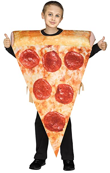 Fun World Kid's Pizza Slice Child Childrens Costume, Multi-Colored, Standard