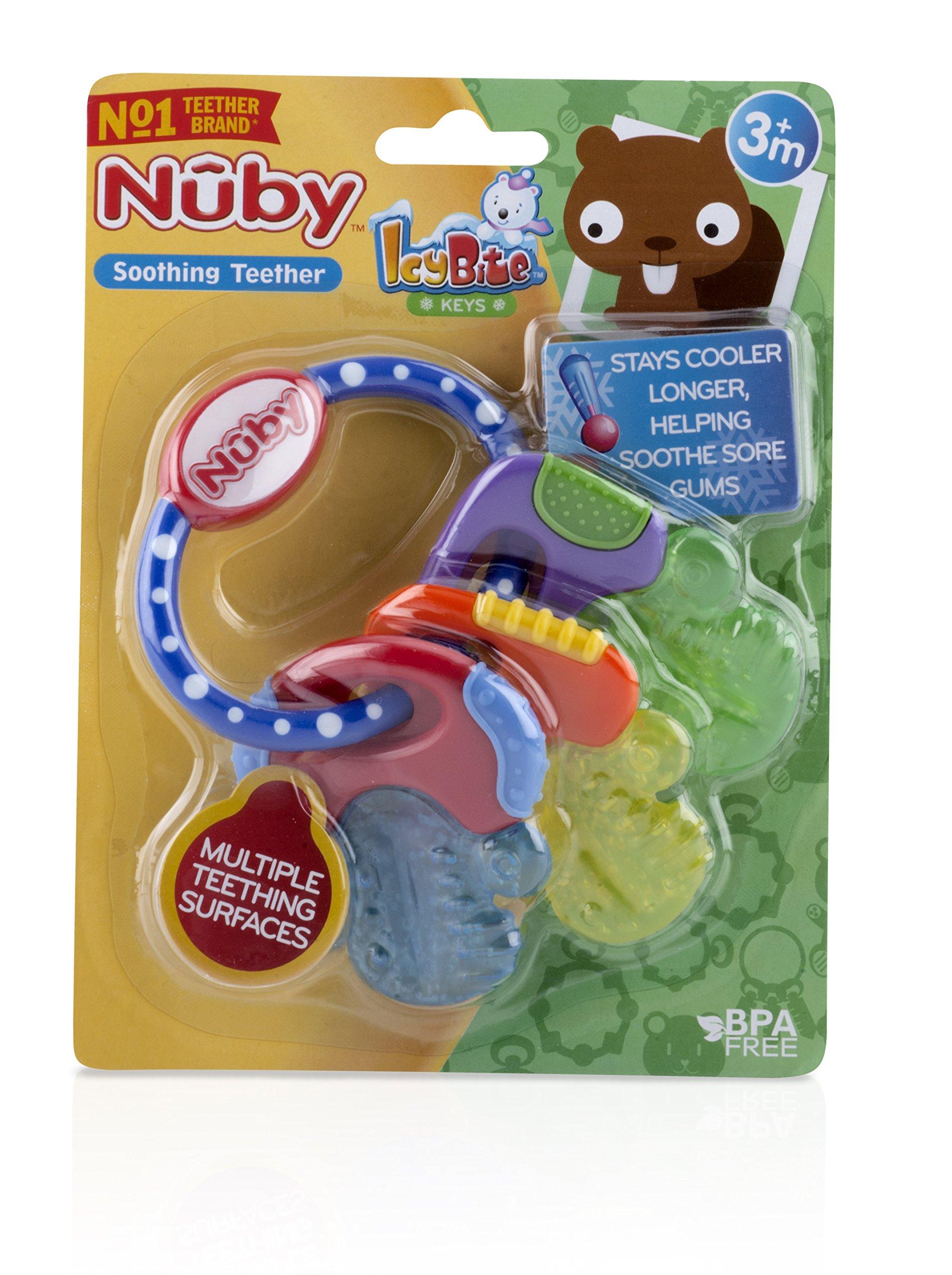 Nuby Icy Bite Keys Multi Surfaced Soothing Teether