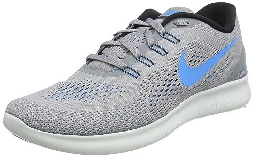 Nike Herren Free Run Laufschuhe Grau (StealthBlue Glow