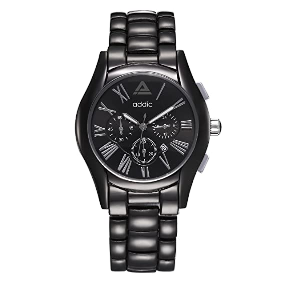 8e790fabb6d Image Unavailable. Image not available for. Colour  Addic Elegenant    Classy Black Dial Watch for Men s   Boys.