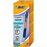 BIC Fashion 537RT Medium 0.7mm Tip Roller Ball Gel Pen - Orange/ Pink/ Purple/ Turquoise (Pack of 12)
