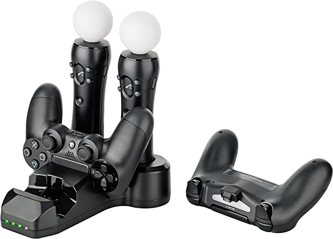 Gaminger Multi Charging Station para 2 Playstation 4 / Slim/Pro DualShock Controller y 2 Move Motion Controller: Amazon.es: Electrónica