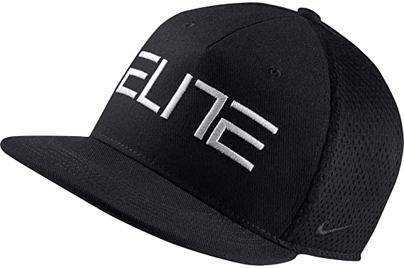 f0f67440d0c Nike Youth s AeroBill EliteTrue Flat Brim Snapback Hat Black Black  899347-010 (One