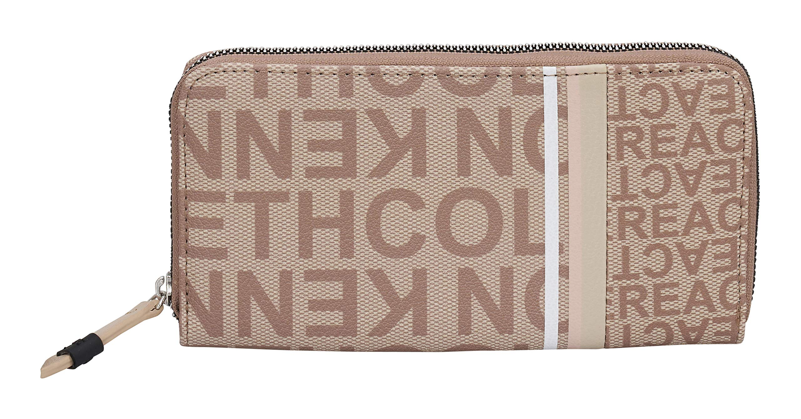 Kenneth Cole Reaction Women's Bold Print Clutch Zip Around Wallet (LT Stone Print)