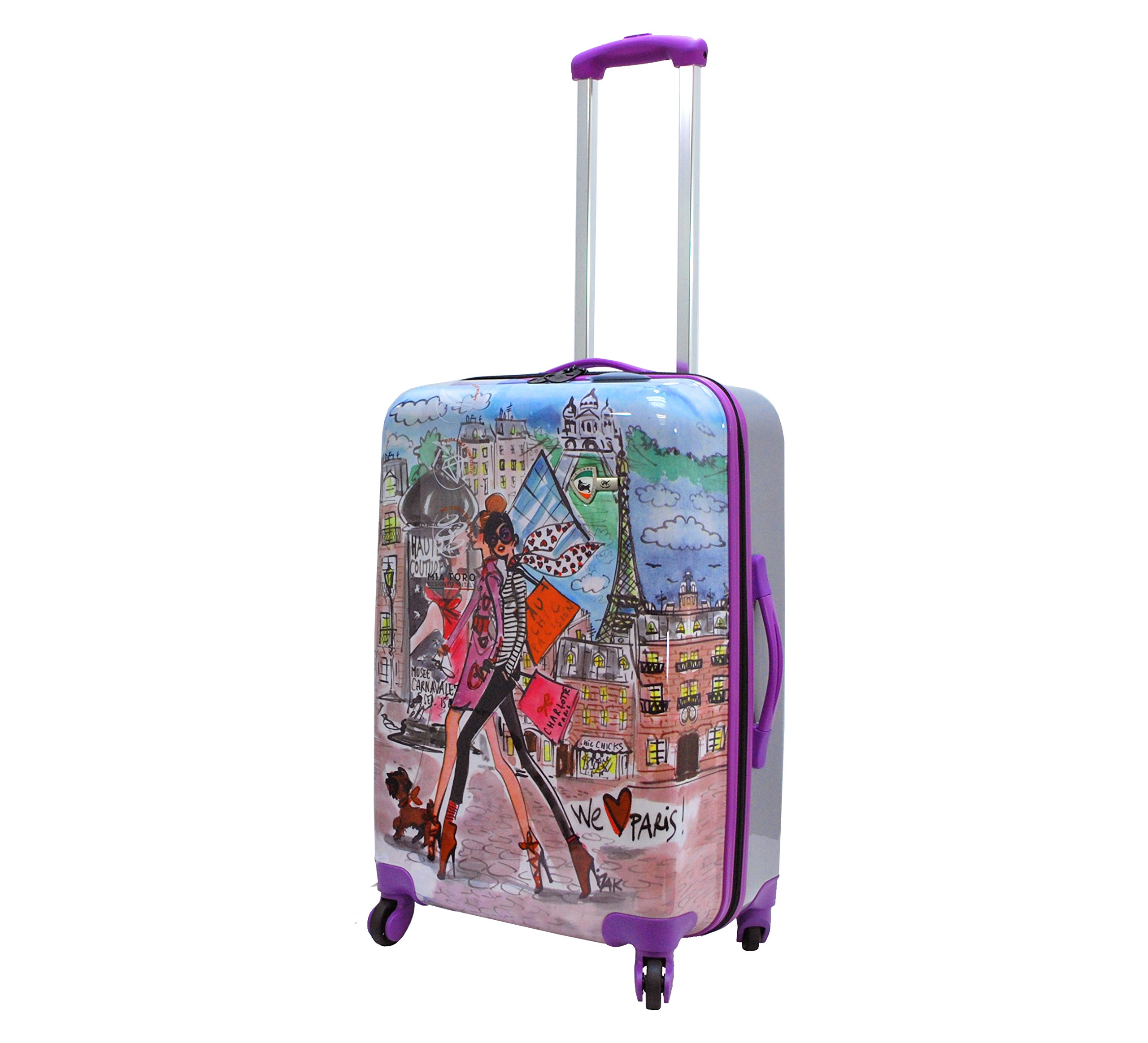 Mia Toro Izak-Paris Fashion Hard-side Spinner Luggage 3PC/Set with 10-Year Warranty--BEST GIFT for Christmas!!!!! by Mia Toro (Image #2)