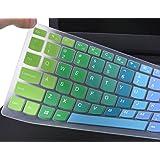 "For Lenovo Keyboard Cover for Lenovo 310 15.6"", Lenovo 510 15.6"", ideapad 110 15.6"", ideapad 110 17.3"", Lenovo Flex 4 15.6"" Laptop, Rainbow"
