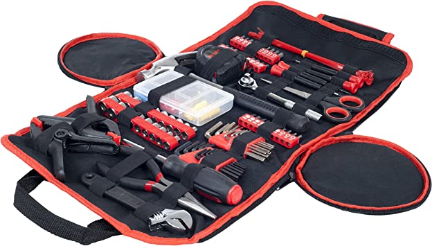 Stalwart 75-HT1086 86 Piece Tool Kit Household Car /& Office in Roll Up Bag