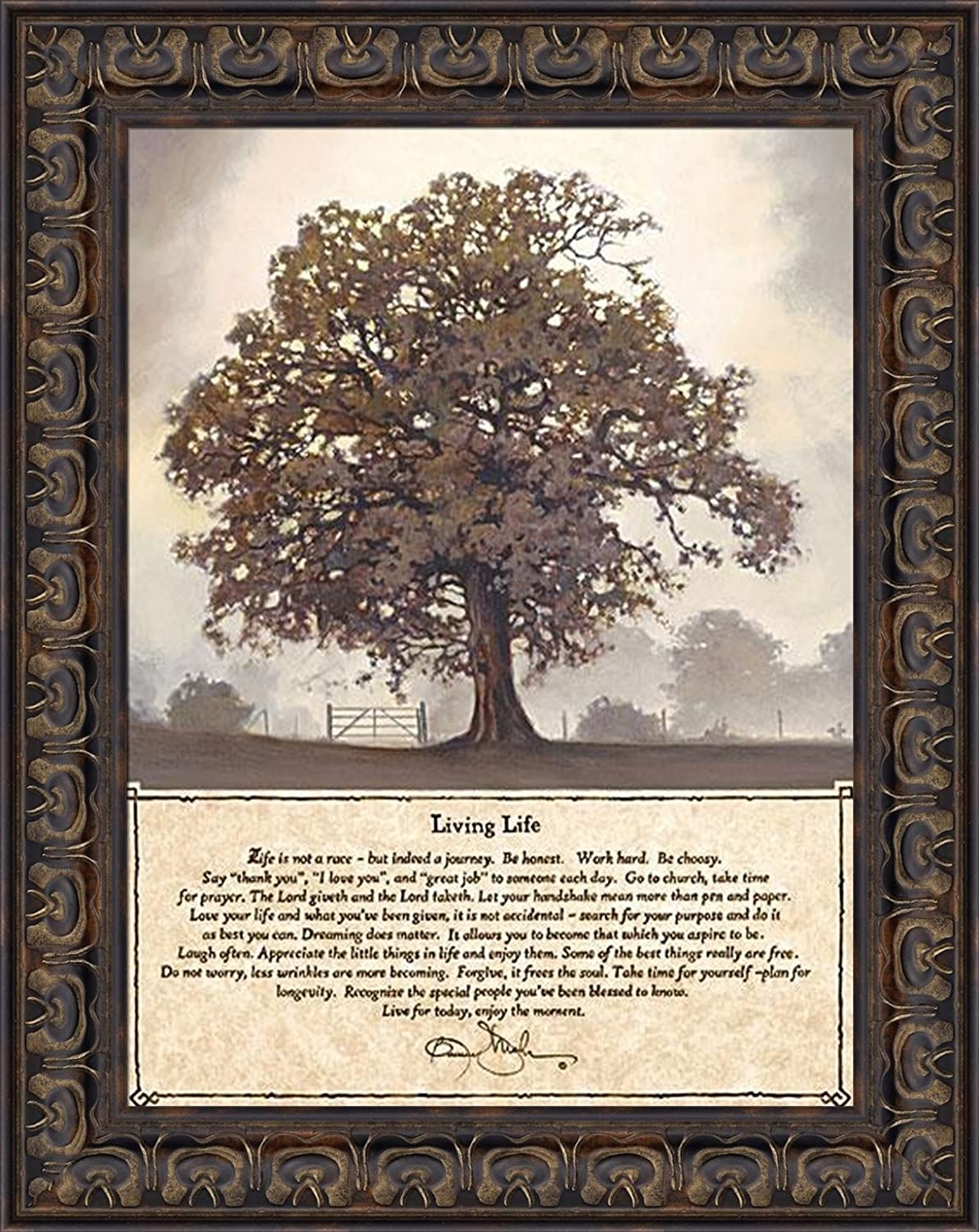 Living Life By Bonnie Mohr 15x19 Life Is A Journey Inspirational Quote Tree Framed Art Print Wall Décor Picture