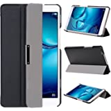 VOVIPO Huawei Mediapad M3 8.4 Funda, Ultra Slim Funda de piel para Huawei Mediapad M3 8.4 con la función-Negro