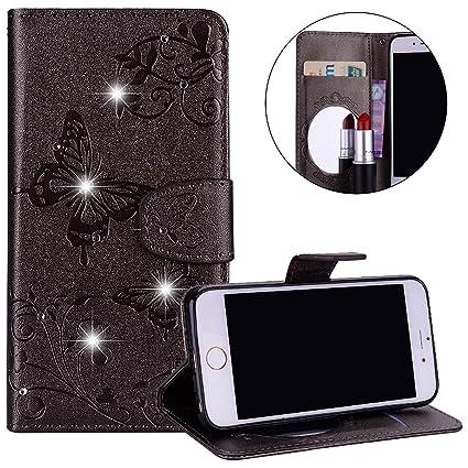 Surakey carcasa iPhone 6s Funda con espejo, diamante ...