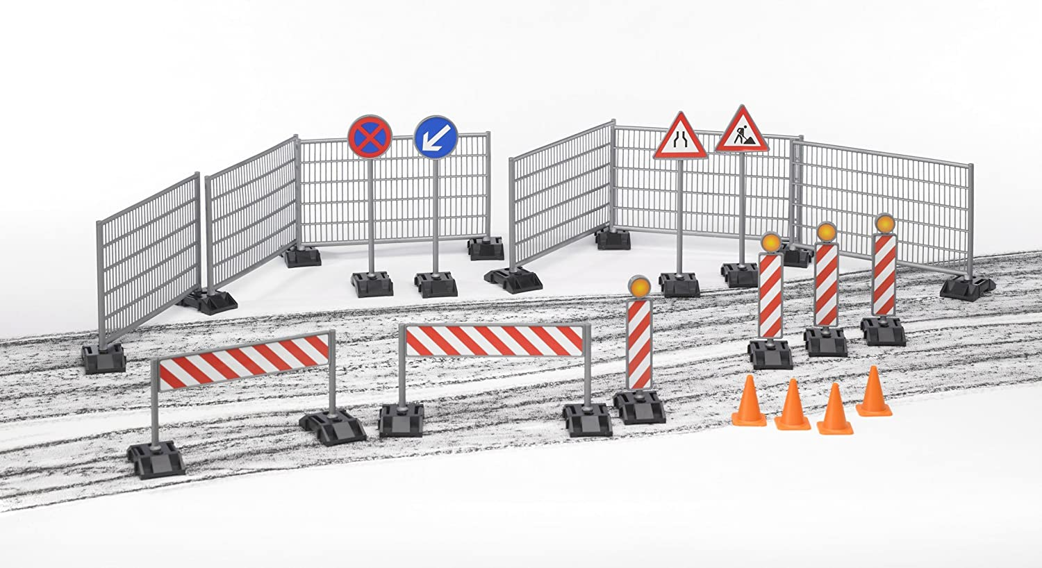 Bruder Construction Set Railings Site Signs and Pylons