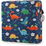 Dismountable Harness Cushion Kid Highten Pad Baby Toddler Infant Dining Chair On The Go Seat Travel Storage Chair Printed (Dinosaur)