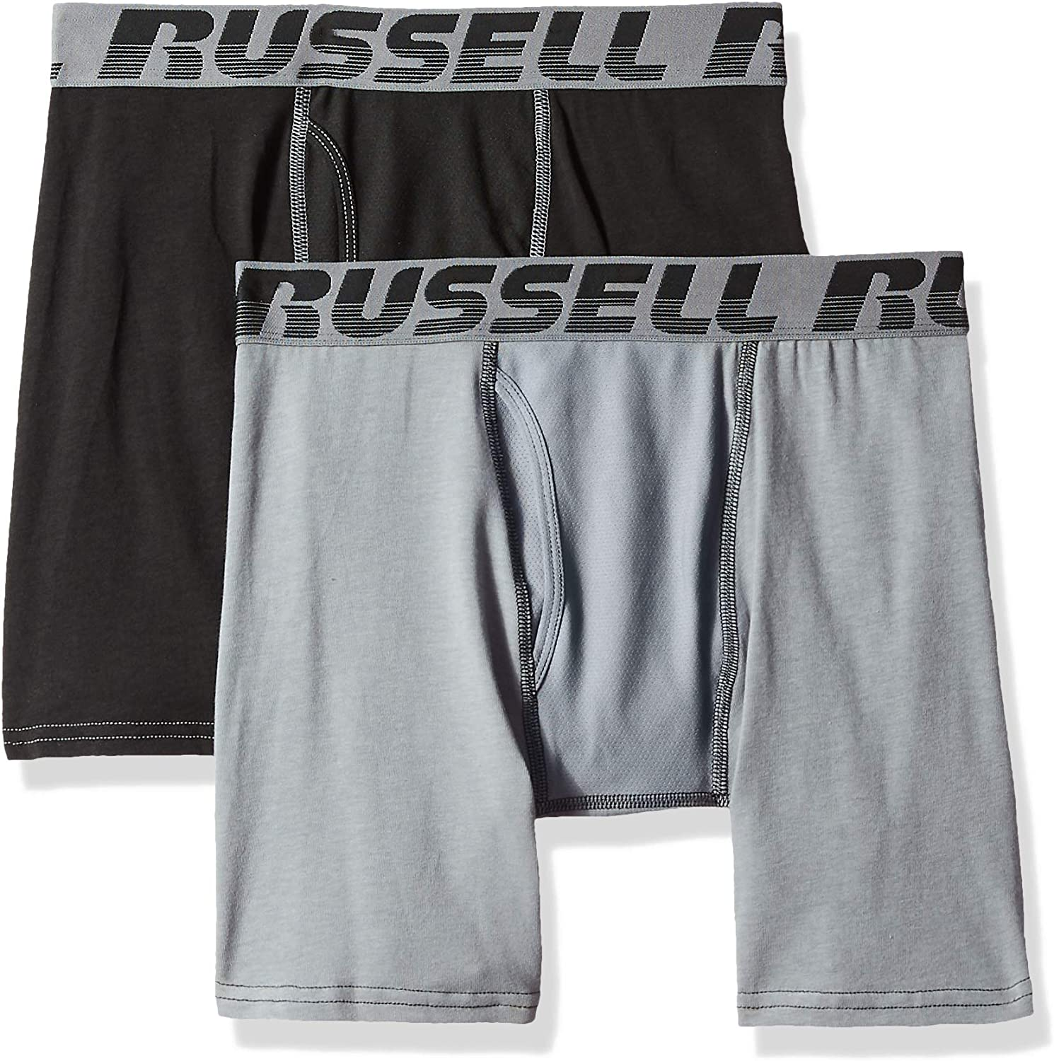 Russell Athletic Men's Cotton Performance Comfort Stretch Boxer Briefs