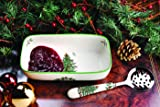 Spode Christmas Tree Cranberry Bowl with Slotted