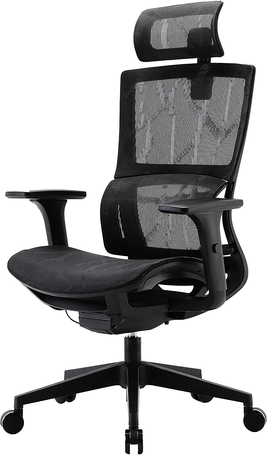 Amazon Com Xuer Ergonomic Office Chair With Cozy Lumbar Support And Adjustable 3d Armrest Computer Desk Chair With Mesh Seat And High Back Multifunction For Relaxation Black Kitchen Dining