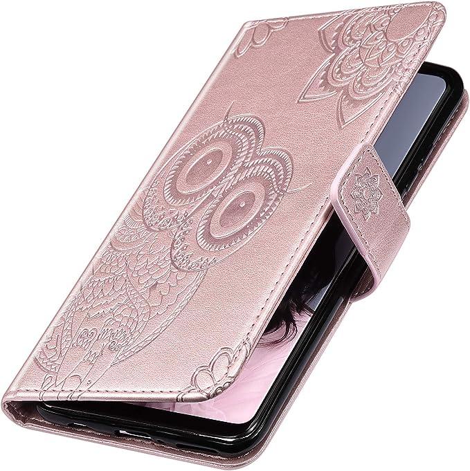 Saceebe Compatible avec Samsung Galaxy A10 Coque Cuir /Étui Wallet Housse 3D Imprim/é Mandala Fleur Motif Diamant Strass Paillettes Portefeuille Clapet Coque avec Magn/étique Rabat,Rose