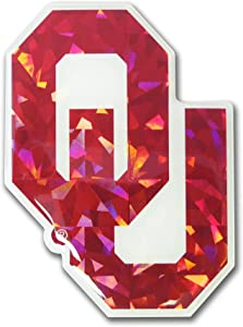Elektroplate Oklahoma Sooners Red Color NCAA Reflective 3D Decal Domed Sticker Emblem