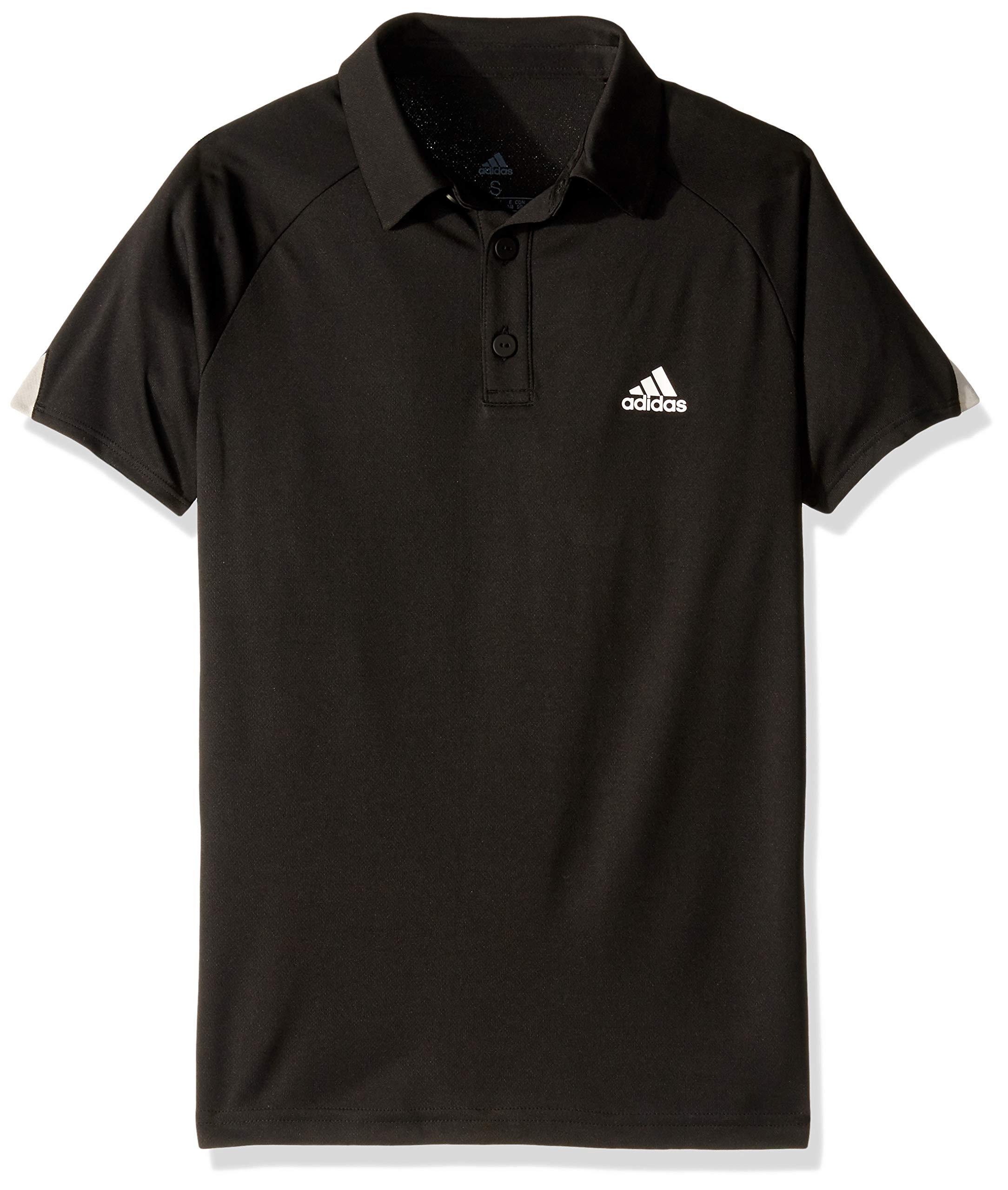 adidas Club Tennis Polo Shirt, Black/White, X-Small